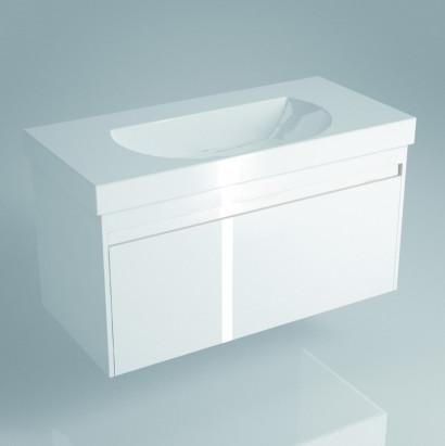 Тумба напольная BUONGIORNO для раковины 100 см,  2 ящика, европейский белый
