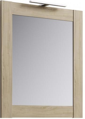 Simphony панель с зеркалом и светильником, цвет дуб сонома, Sim.02.07/DS,