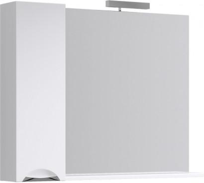 Лайн панель с зеркалом,  светильником и шкафчиком Li.02.10,