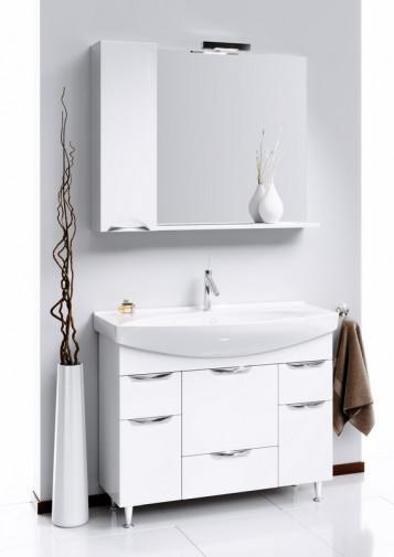 Лайн панель с зеркалом,  светильником и шкафчиком Li.02.10, 2