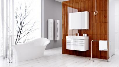 Зеркальный шкаф Aqwella Milan с подсветкой, цвет белый Mil.04.08 2