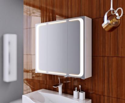 Зеркальный шкаф Aqwella Milan с подсветкой, цвет белый Mil.04.08 3