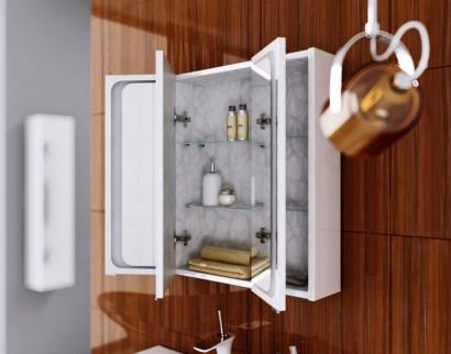 Зеркальный шкаф Aqwella Milan с подсветкой, цвет белый Mil.04.08 4