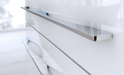 Милан тумба под умывальник на ножках с ящиками, цвет белый  Mil.01.10/2n/W, 2