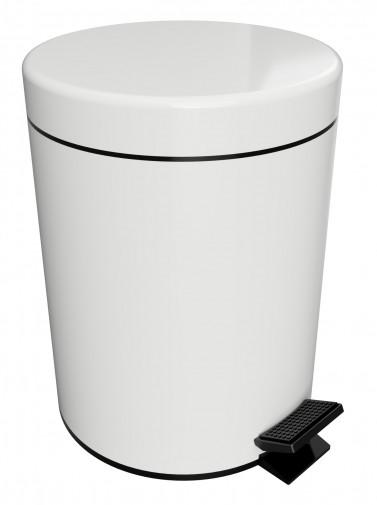 Ведро для мусора 5 л Bemeta Hotel 104315014 с педалью, крышка SoftClose, белый