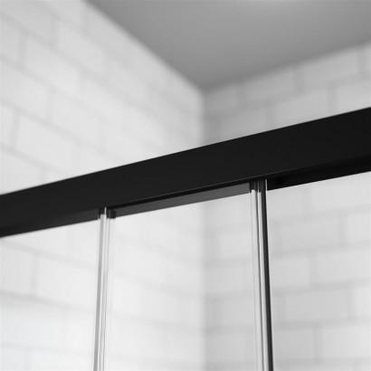 Дверь для душевого уголка Radaway Idea Black KDJ 130 левая , профиль чёрный , стекло прозрачное 3