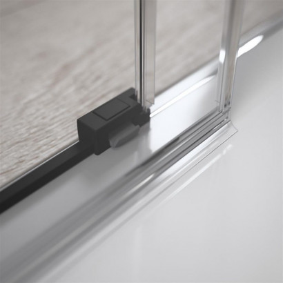 Боковая стенка для душевого уголка Radaway Idea Black KDJ 80 левая , профиль чёрный , стекло прозрачное 6