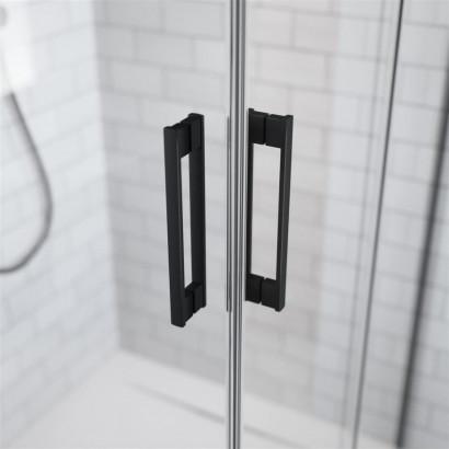 Боковая стенка для душевого уголка Radaway Idea Black KDJ 90 левая , профиль чёрный , стекло прозрачное 4