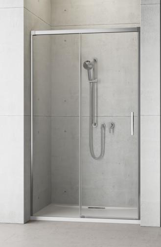 Душевая дверь в нишу Radaway Idea DWJ 130x200 левая , профиль хром, стекло прозрачное