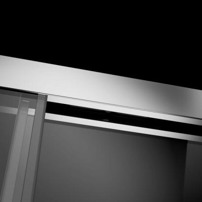 Душевая дверь в нишу Radaway Idea DWJ 130x200 левая , профиль хром, стекло прозрачное 2