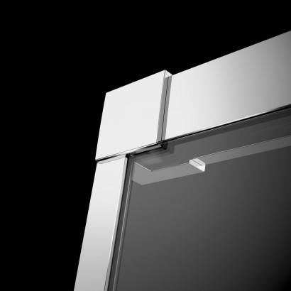 Душевая дверь в нишу Radaway Idea DWJ 130x200 левая , профиль хром, стекло прозрачное 3