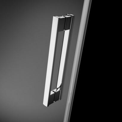 Душевая дверь в нишу Radaway Idea DWJ 130x200 левая , профиль хром, стекло прозрачное 4
