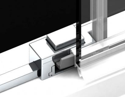 Душевая дверь в нишу Radaway Idea DWJ 130x200 левая , профиль хром, стекло прозрачное 5