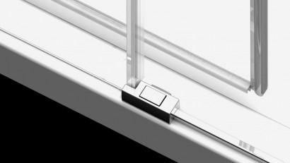Душевая дверь в нишу Radaway Idea DWJ 130x200 левая , профиль хром, стекло прозрачное 6