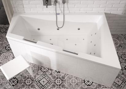 Асимметричная акриловая ванна Riho Doppio 180x130 левая , без гидромассажа BA9100500000000 2