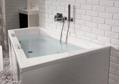 Асимметричная акриловая ванна Riho Doppio 180x130 левая , без гидромассажа BA9100500000000 4