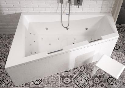 Асимметричная акриловая ванна Riho Doppio 180x130 правая , без гидромассажа BA9000500000000