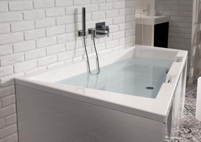 Асимметричная акриловая ванна Riho Doppio 180x130 правая , без гидромассажа BA9000500000000 3
