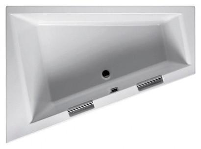 Асимметричная акриловая ванна Riho Doppio 180x130 правая , без гидромассажа BA9000500000000 4