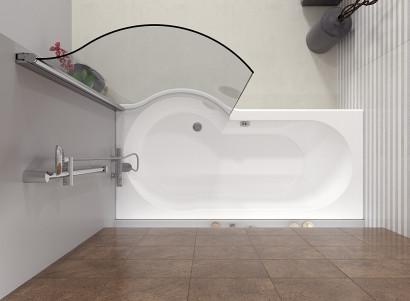 Асимметричная ванна Riho Dorado 170x75/90 L без гидромассажа BA8100500000000
