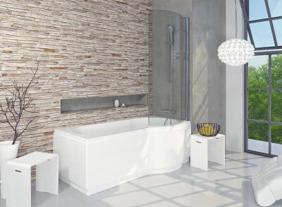 Асимметричная ванна Riho Dorado 170x75/90 L без гидромассажа BA8100500000000 2