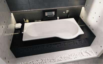 Асимметричная ванна Riho Dorado 170x75/90 L без гидромассажа BA8100500000000 4