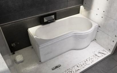 Асимметричная ванна Riho Dorado 170x75/90 L без гидромассажа BA8100500000000 7