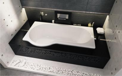 Асимметричная ванна Riho Dorado 170x75/90 R без гидромассажа BA8000500000000 4