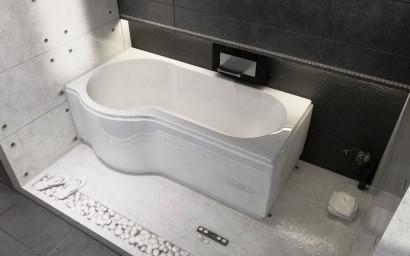 Асимметричная ванна Riho Dorado 170x75/90 R без гидромассажа BA8000500000000 7