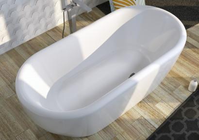 Овальная ванна Riho Dua 180x86 с белой глянцевой панелью без гидромассажа BD0100500000000 2