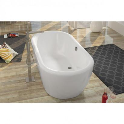 Овальная ванна Riho Dua 180x86 с белой глянцевой панелью без гидромассажа BD0100500000000 3