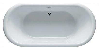 Овальная ванна Riho Dua 180x86 с белой глянцевой панелью без гидромассажа BD0100500000000 4