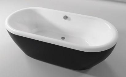 Овальная ванна Riho Dua 180x86 с черной глянцевой панелью без гидромассажа BD0166500000000 2