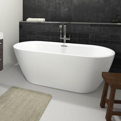Овальная ванна Riho Inspire FS 160x75 белая BD1000500000000