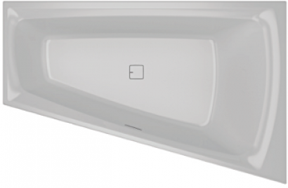 Асимметричная ванна Riho Still Smart Elite L 170x110 без гидромассажа BD1600500000000 4