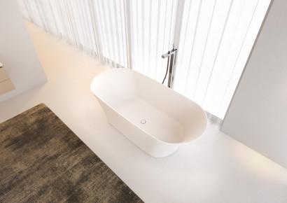 Овальная ванна из искусственного камня Riho Barca 170x79 белая BS6000500000000 6
