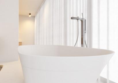 Овальная ванна из искусственного камня Riho Barca 170x79 белая BS6000500000000 8