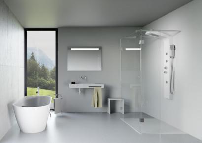 Овальная ванна из искусственного камня Riho Bilbao 150x75 белая BS1200500000000 2