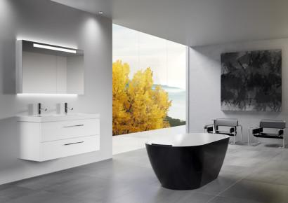 Овальная ванна из искусственного камня Riho Bilbao 150x75 белая BS1200500000000 11