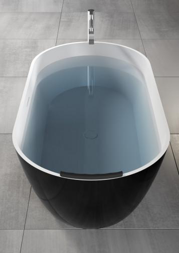 Овальная ванна из искусственного камня Riho Bilbao 150x75 белая BS1200500000000 12