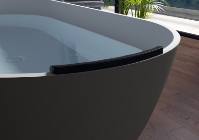 Овальная ванна из искусственного камня Riho Bilbao 150x75 белая BS1200500000000 15