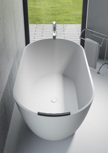 Овальная ванна из искусственного камня Riho Bilbao 150x75 белая BS1200500000000 16