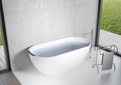 Овальная ванна из искусственного камня Riho Bilbao 150x75 белая BS1200500000000 18