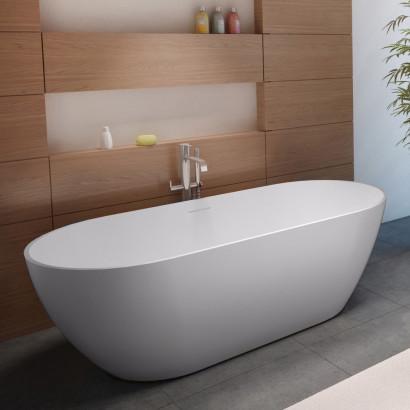 Овальная ванна из искусственного камня Riho Bilbao 150x75 белая BS1200500000000 3