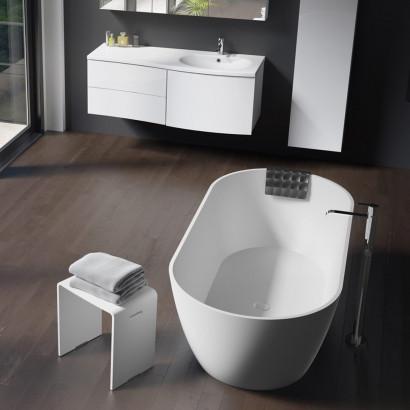 Овальная ванна из искусственного камня Riho Bilbao 150x75 белая BS1200500000000 4