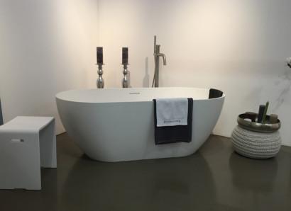 Овальная ванна из искусственного камня Riho Bilbao 150x75 белая BS1200500000000 5