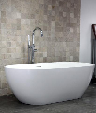Овальная ванна из искусственного камня Riho Bilbao 150x75 белая BS1200500000000 6