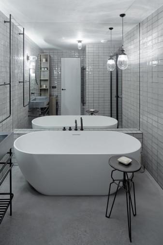Овальная ванна из искусственного камня Riho Bilbao 150x75 белая BS1200500000000 9