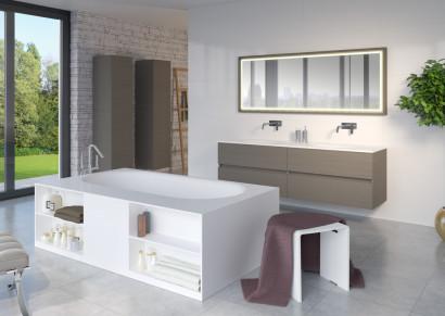Прямоугольная ванна из искусственного камня Riho Burgos 180х102 белая BS4200500000000 11
