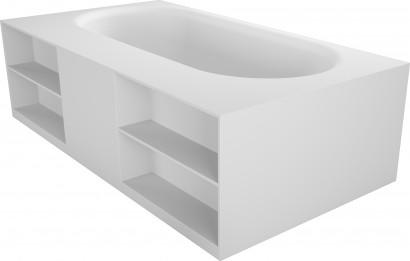 Прямоугольная ванна из искусственного камня Riho Burgos 180х102 белая BS4200500000000 14
